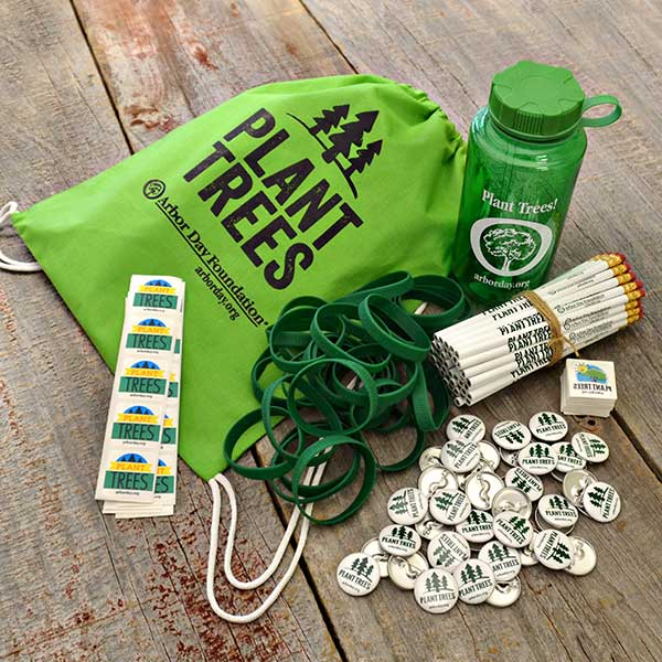 9be204b9b40 Arbor Day Celebration Kit.  Plant Trees  Awareness Bracelets