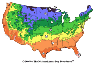 What is my arborday org hardiness zone