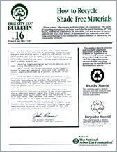 How to Recycle Shade Tree Materials
