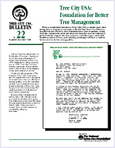 Tree City USA: Foundation for Better Tree Mgmt