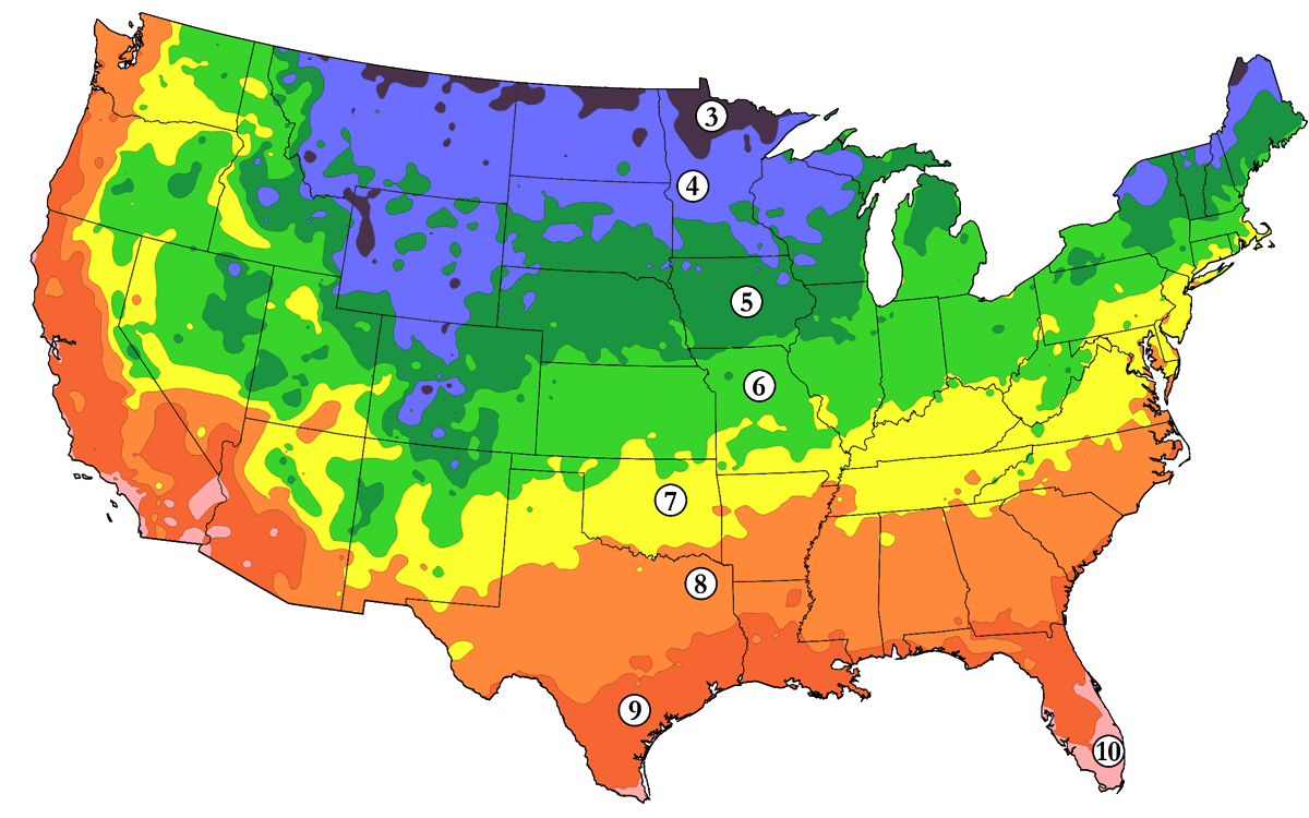 Arborday.org Hardiness Zone Map