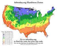 Hardiness Zone Map - Us map high resolution